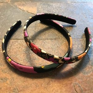 Vera Bradley - set of 2 Suzani pattern headbands